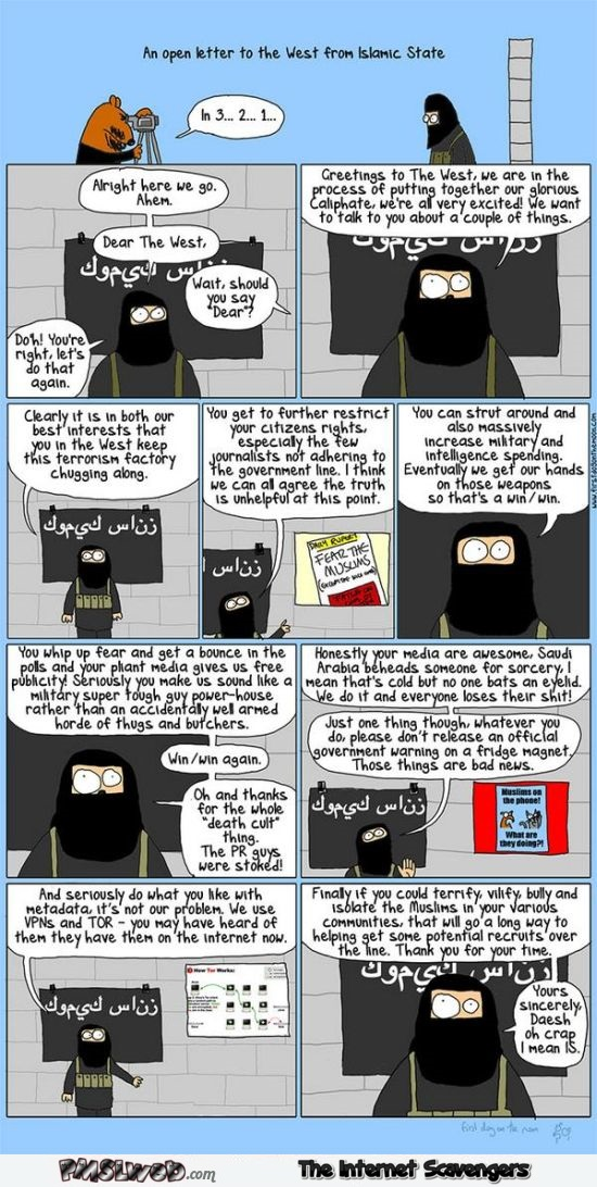 Funny Isis cartoon @PMSLweb.com