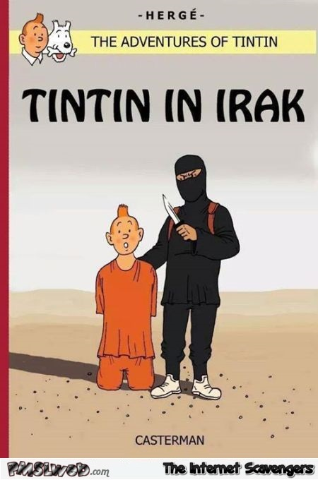 Tintin in Iraq sarcasm