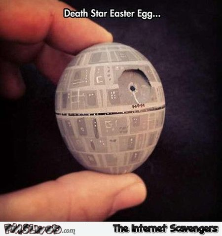 Death star Easter egg meme @PMSLweb.com
