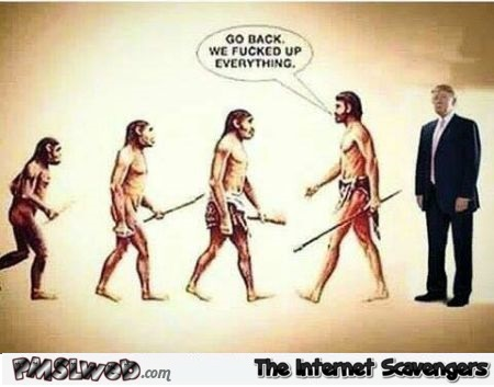 Funny Trump and evolution @PMSLweb.com