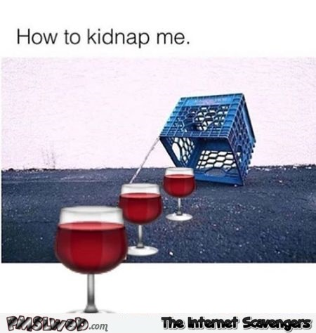 How to kidnap me wine humor