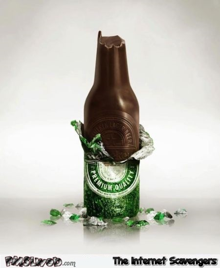 Funny Heineken Easter chocolate