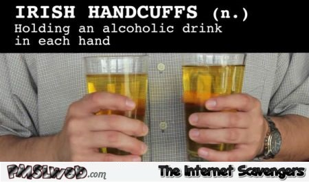 Irish handcuffs humor – Irish humor @PMSLweb.com