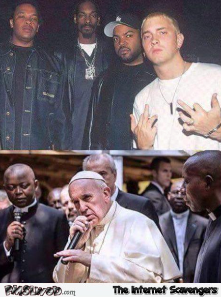 Eminem and the pope joke