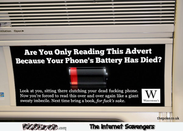 The only reason you are reading this advert funny fake adverting @PMSLweb.com