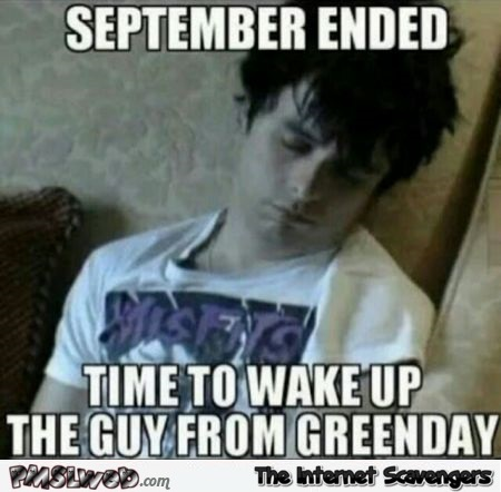 Time to wake up the green day guy meme