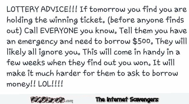 If you win the lottery funny quote @PMSLweb.com