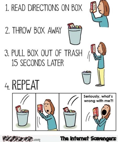 Following directions on a box humor – Sunday LOL @PMSLweb.com