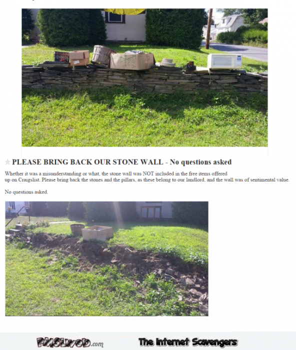 Please bring back our stone wall