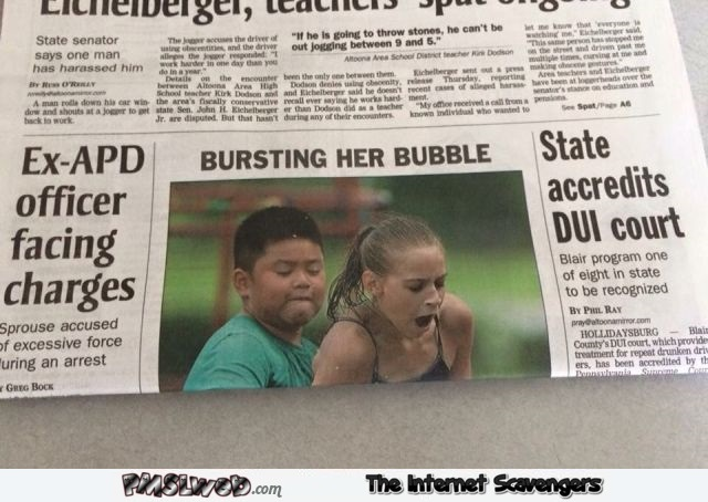 Funny folded newspaper fail – Sarcastic and naughty humor @PMSLweb.com
