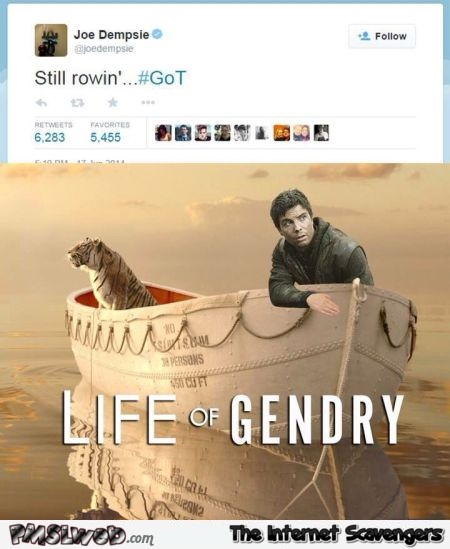 Funny Gendry Game of Thrones tweet @PMSLweb.com