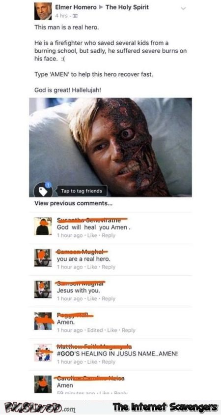 This man is a real hero funny Facebook fail @PMSLweb.com