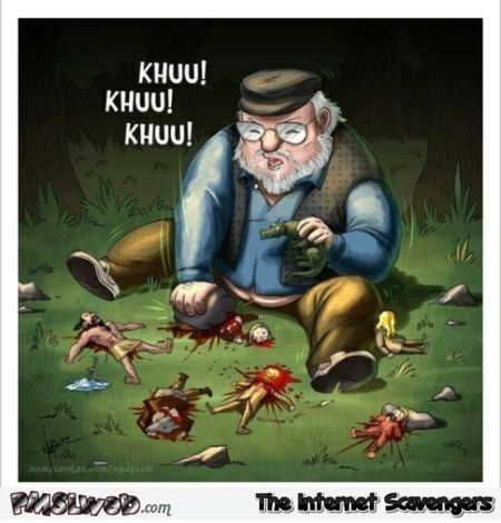 Funny George R.R martin cartoon – Game of Thrones humor @PMSLweb.com