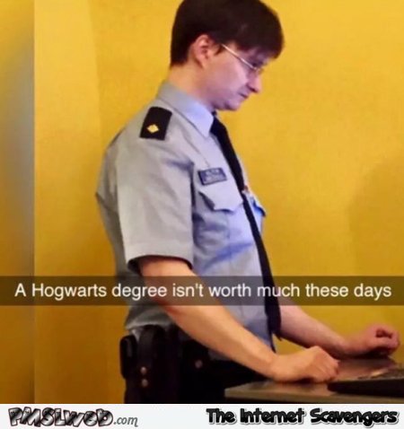 Harry Potter's new job humor @PMSLweb.com