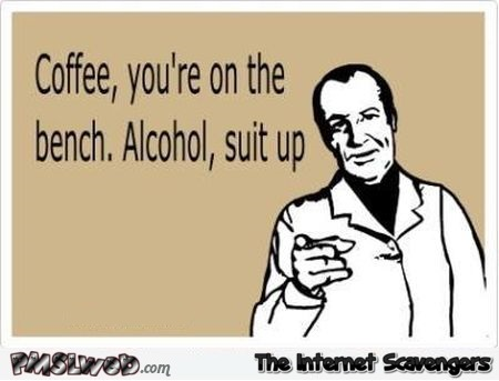 Alcohol suit up sarcastic ecard @PMSLweb.com