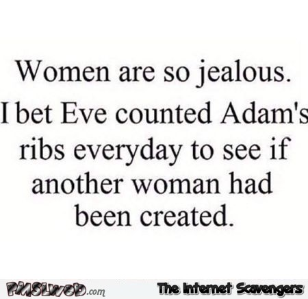 Eve counted Adam's ribs everyday humor @PMSLweb.com