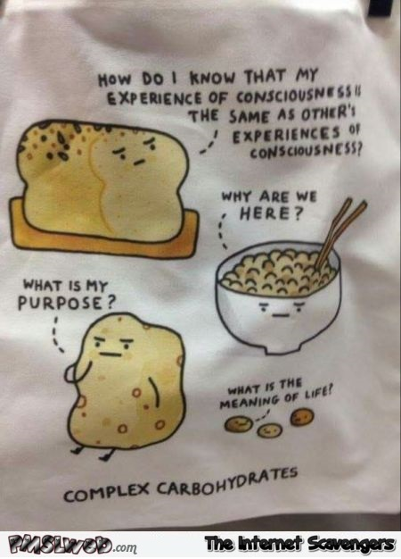 Complex carbohydrates humor @PMSLweb.com