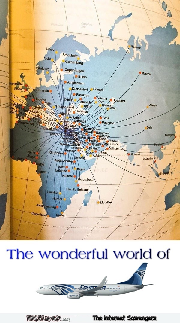 Funny Egyptair travel map fail – TGIF mischief @PMSLweb.com