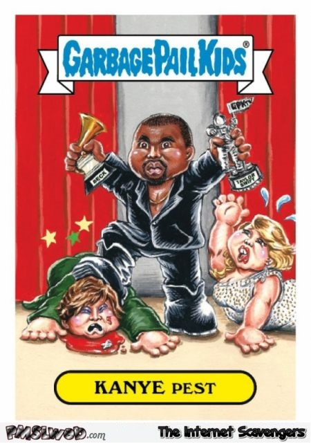 Garbage pail kids Kanye West card @PMSLweb.com
