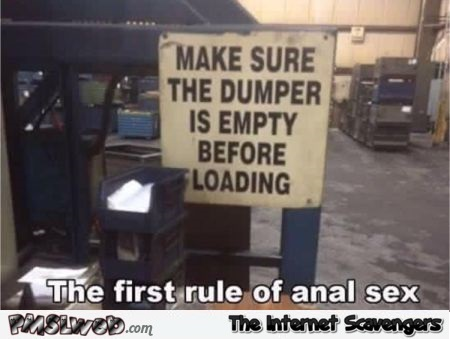 The first rule of anal sex meme