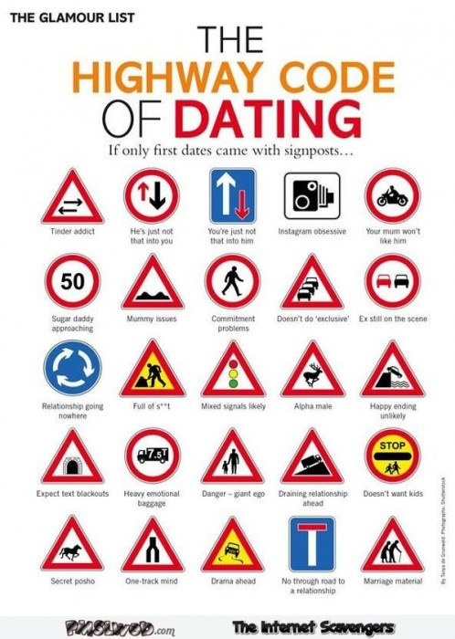 Funny highway code of dating