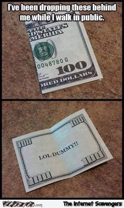 Funny bank note prank