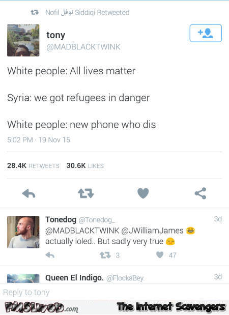 All lives matter funny tweet @PMSLweb.com