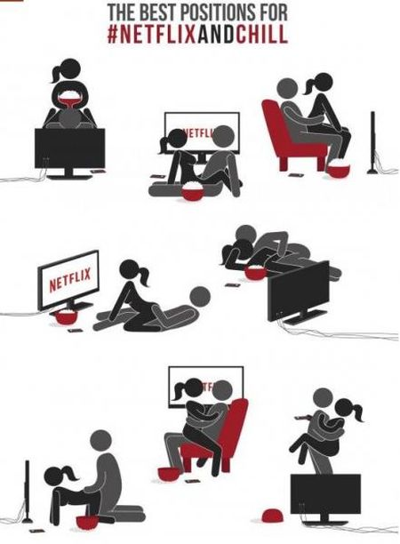 Best positions for Netflix and chill humor @PMSLweb.com