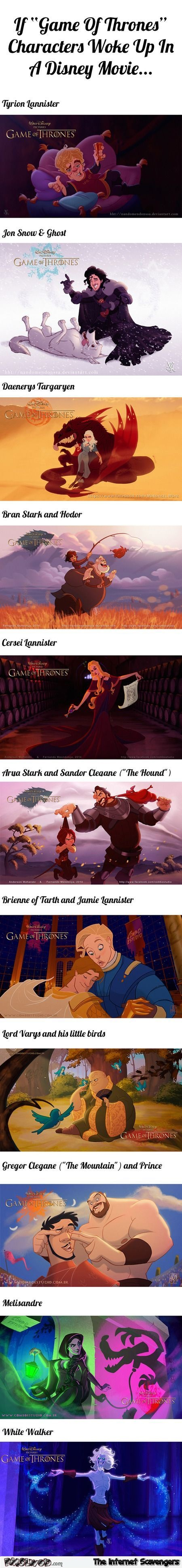 Funny Disney versions of Game of Thrones characters – Game of Thrones humor @PMSLweb.com