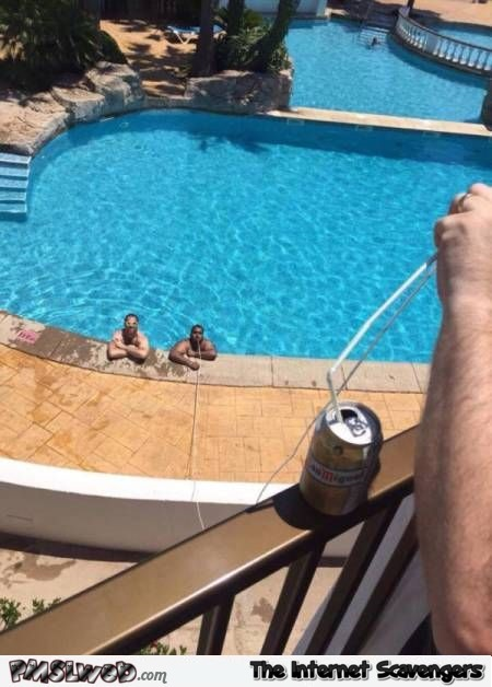 Funny drinking beer in the pool like a boss @PMSLweb.com