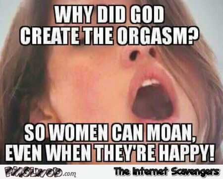 Funny Meme For Girl : Why did god create the orgasm funny meme pmslweb