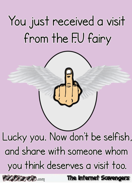 You just received a visit from the FU fairy humor @PMSLweb.com