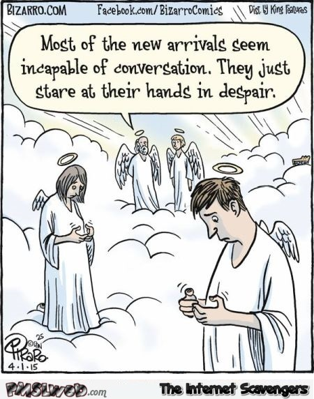 New arrivals in heaven funny cartoon @PMSLweb.com