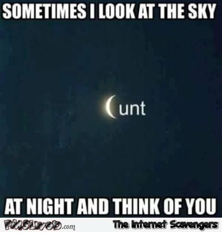 Sometimes I look at the sky and think of you sarcastic meme @PMSLweb.com