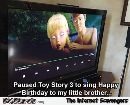 Pausing on Toy Story 3 funny fail @PMSLweb.com