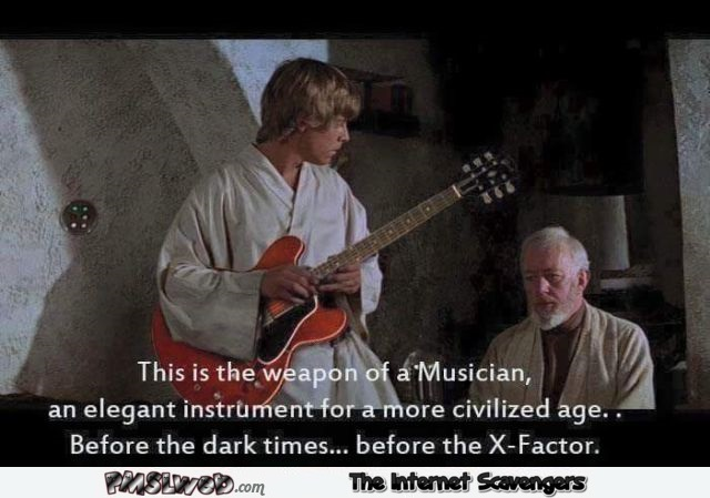 Before the X-factor Star Wars humor