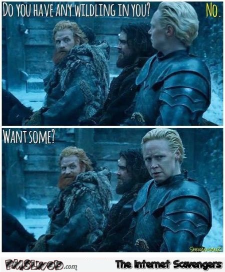 Do you have any wildling in you joke GoT humor