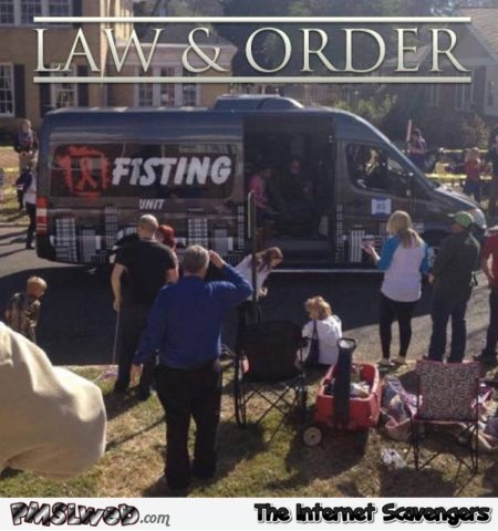 Funny Law and order fisting unit @PMSLweb.com