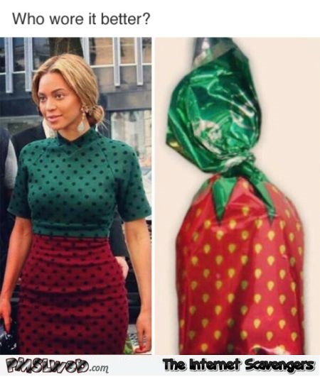 Funny Beyonce who wore it better @PMSLweb.com