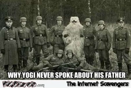 Why yogi never spoke about his father meme