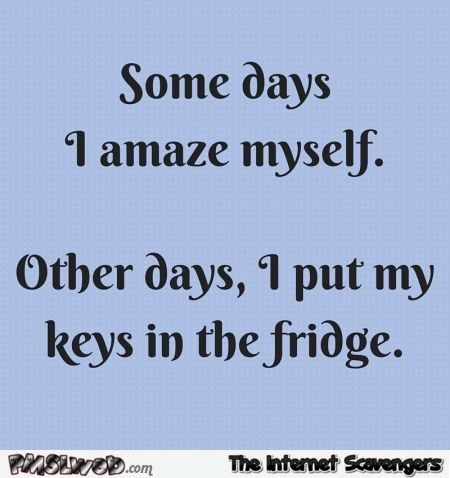 Some days I amaze myself funny quote