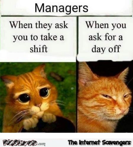 Managers are double faced humor