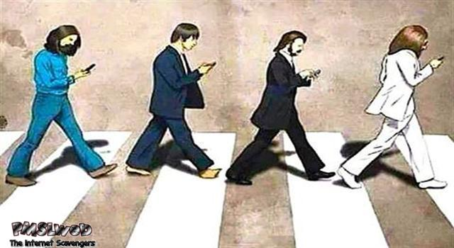 Beatles Abbey Road nowadays humor @PMSLweb.com