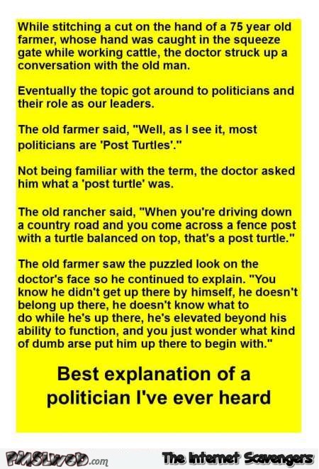 Best explanation of a politician joke @PMSLweb.com