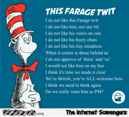 Funny British cat in the hat parody @PMSLweb.com