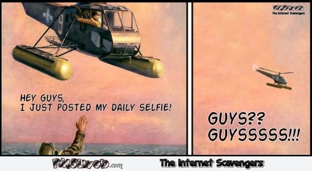 I just posted my daily selfie funny cartoon