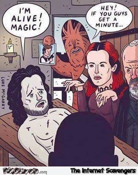Melisandre bring back Han Solo to life funny cartoon
