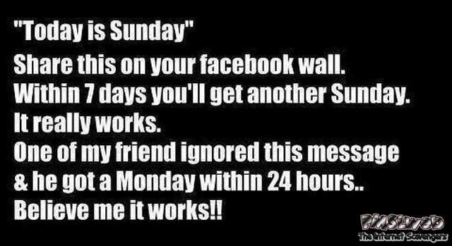 Today is Sunday share this humor – Funny Sunday picture collection @PMSLweb.com