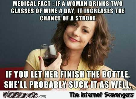 Medical fact about women adult humor meme @PMSLweb.com
