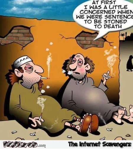 Stoned to death funny cartoon @PMSLweb.com